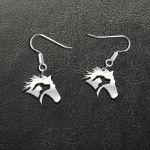 Horse Dog Cat Handmade 925 Sterling Silver Earrings