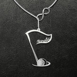 You're Teerific While Playing Golf Handmade 925 Sterling Silver Pendant Necklace