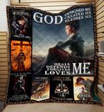 God Design Me - Love Me Knight Templar Blanket 3D Full Printing