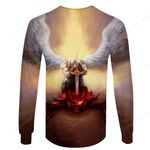 KNEEL BEFORE GOD CAN STAND BEFORE ANYONE Knight Templar Hoodie 3D TDQ-HN0039
