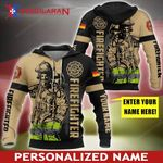 Personalized Name Germany Firefighter 3D Full Printing Hoodie