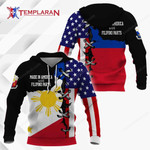 Made in America with Filipino Part Hoodie 3D Full Printing