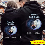 Personalized From Our First Kiss Till Our Last Breath Lion Couple Hoodie