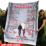 Custom Names To My Daughter PM-21CT4 Fleece Blanket