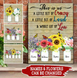Personalized Family Flower Canvas Custom Names PHT
