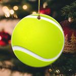 Tennis Christmas Circle Ornament (1 sided)  tdh hqt-14dt002