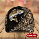 WALLEYE FISHING CAMO PERSONALIZED CAP