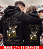 Personalized Till Our Last Breath Deer Couple Hoodie NVL-16DD13