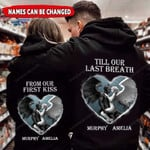 Personalized Demon And Angel Custom Names Hoodie PHT