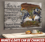 Personalized Wolf Couple Canvas HTT-15XT024