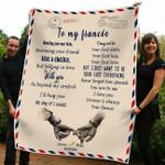 To my fiancée  Fleece Blanket ntk-21dt001
