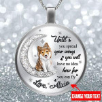 SHETLAND SHEEPDOG How far you can fly Round shape necklace