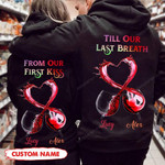 Pesonalized  Till Our Last Breath Wine Hoodie hqt-16sh044