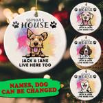 Personalized Dog ang Family Circle Ornament