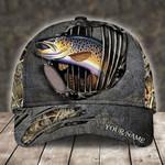 TROUT FISHING CAMO PERSONALIZED CAP