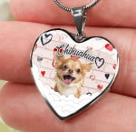 Chihuahua heart necklace ntk-18nq003