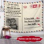 Personalized Favorite Quotes Couple Fleece Blanket