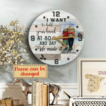 I want to hold your hand at 80 Wooden Clock