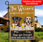 Personalized Backyard Bar & Grill Dogs Garden Flag HQD-FXT008