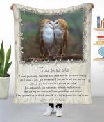 Couple owl Fleece Blanket ntk-21vn001