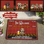 Personalized Backyard Bar & Grill Barkyard Dogs Doormat PHT-DTP015