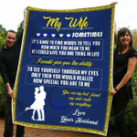 Gift For Your Wife - Police Office Fleece Blanket tdh hqt-21dt007