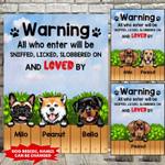 Warning Dog here Canvas ntk-15tq005