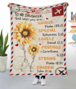 God say you are Personalized Fleece Blanket