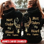 Personalized  Not Sister By Blood But Sister By Heart Couple Hoodie HTT-16XT052