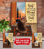 PERSONALIZED DOG Best Part Of The Day Canvas DHL-15TT008
