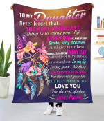 To My Daughter | Love, Mom | Fleece Blanket 3D Printing