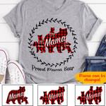 Personalized Bears PROUD MAMA BEAR Standard T-shirt DHL-16DD006