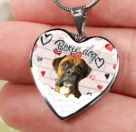 Boxer dog hear necklace ntk-18nq001