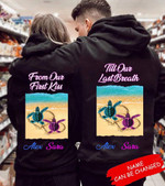 Personalized Till Our Last Breath-From Our First Kiss Turtle Hoodie tdh | hqt-16tq004