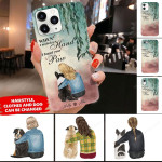 PERSONALIZED GIRL AND DOG I Found Your Paw Phonecase DHL-24TQ001