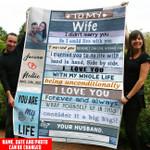 Love wife unconditionlly upload photo couple Fleece Blanket ntk-21dd001
