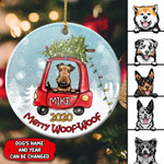 Personalized Dog Christmas 2020 Ceramic Ornament 14VN001