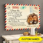 Personalized I Choose You To Do Life With Hand In Hand Lion Canvas