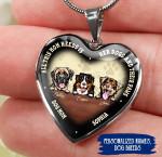 Dog Mom Heart necklace ntk-18nq048