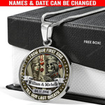 Personalized Till Our Last Breath Custom Names & Date Skull Love Necklace