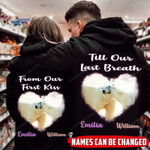 Personalized Till Our Last Breath Polar Bears Couple Hoodie NVL-16DT003