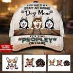 """Personalized """"Stay At Home"""" Dog MOM Cap 30HL059"""
