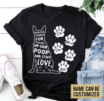 Personalized Dear Dad Thanks For Picking Up My Poop German Shepherd Dog Tshirt