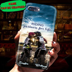 Personalized Riding Partners For Life Couple Phone Case