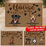Personalized In This House We Are Family Doormat HTT-DXT001