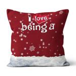 Personalized Snowmen & Grandkds' name Canvas Pillow HQD-20XT001