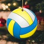 Volleyball Christmas Circle Ornament (1 sided)  tdh hqt-14dt003