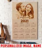 Personalized name, photo calendar 2021 Couple Canvas ntk-15nq005