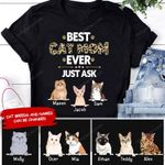 BEST CAT MOM EVER PERSONALIZED T-shirt NTP-16TQ002