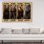 Bear Canvas 3 Size Template NVL-15VA014